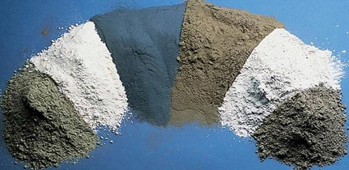 Different types of cement