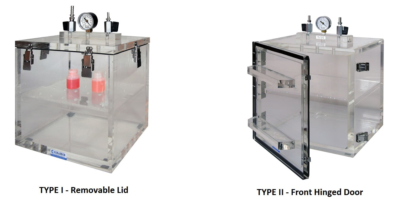 The Vacuum Desiccator Cabinets happen to be vacuum chambers that are made of proper Acrylic that is designed for small parts degassing